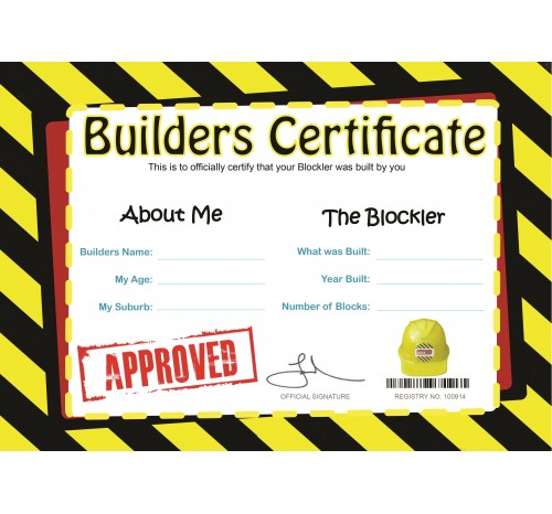 Extra Builders Certificates